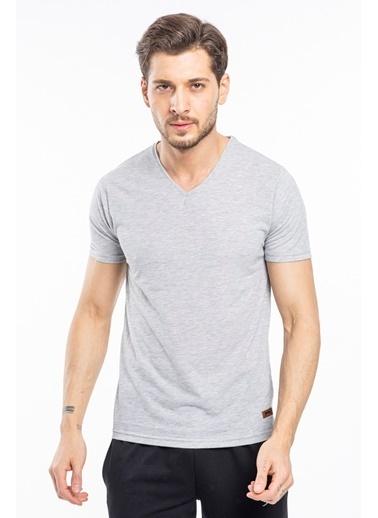 Slazenger Slazenger Bill Erkek T-Shirt Petrol Beyaz